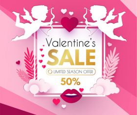 Valentines day sale discount poster vectors 05