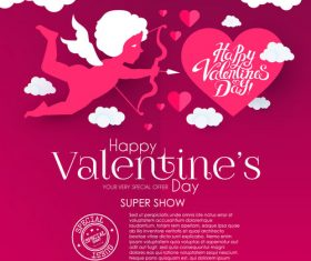 Valentines day sale discount poster vectors 06