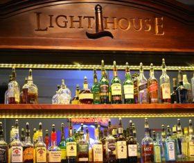 Various alcoholic drinks Stock Photo