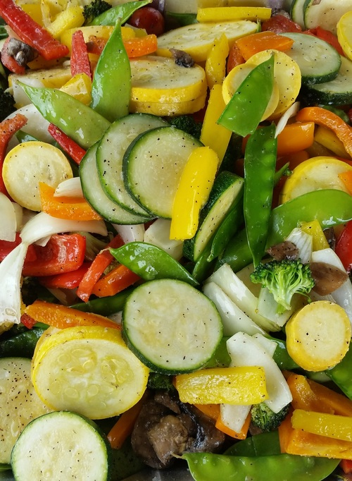 Various flavors of healthy nutrition vegetable salad Stock Photo 09