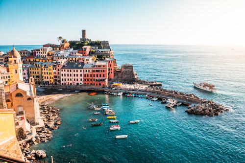 Vernazza Cinque Terre Italy Stock Photo