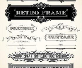 Vintage Labels and Ornaments with frames vector