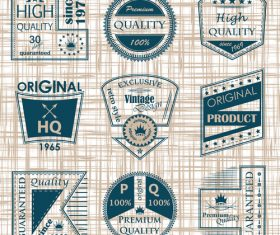 Vintage commodity label vector set 01