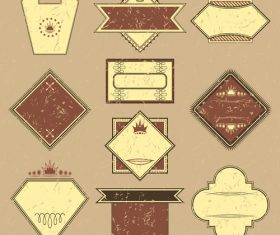 Vintage commodity label vector set 02