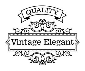 Vintage elegant frame decor vectors 01