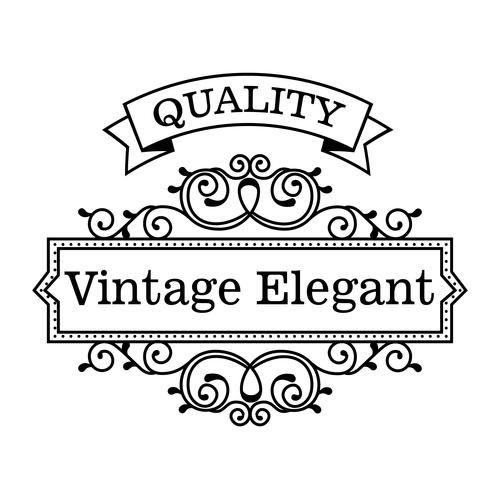 Vintage elegant frame decor vectors 01
