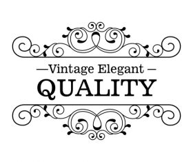 Vintage elegant frame decor vectors 02