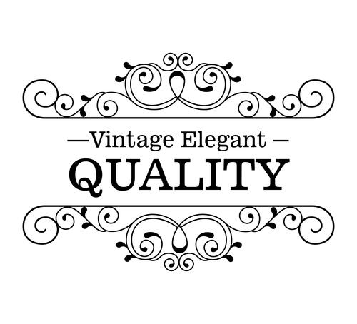 Vintage elegant frame decor vectors 02