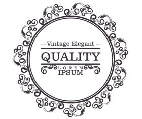 Vintage elegant frame decor vectors 03