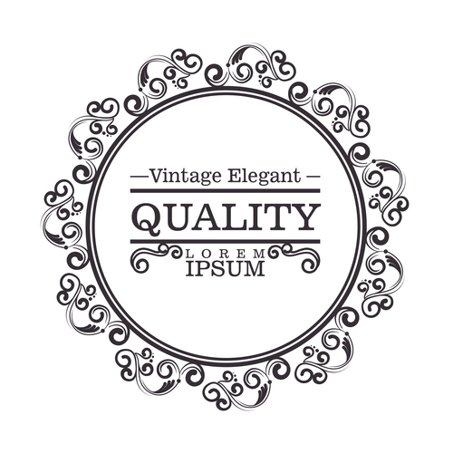 Vintage elegant frame decor vectors 03