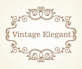 Vintage elegant frame decor vectors 06