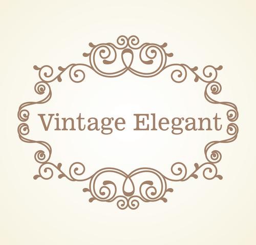 Vintage elegant frame decor vectors 06