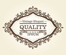 Vintage elegant frame decor vectors 08