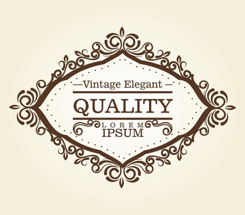 Vintage elegant frame decor vectors 08