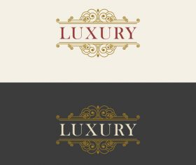 Vintage luxury labels template vectors 02