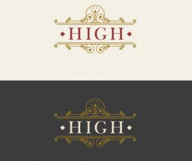 Vintage luxury labels template vectors 03