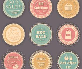 Vintage styles badge design vectors 01
