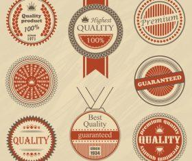 Vintage styles badge design vectors 02