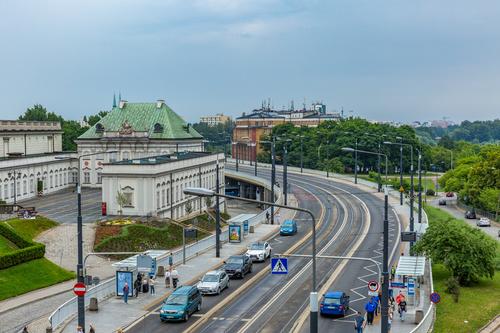 Warsaw capital city landscape Stock Photo 02