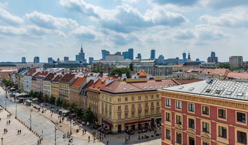 Warsaw capital city landscape Stock Photo 04