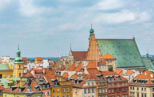 Warsaw capital city landscape Stock Photo 05