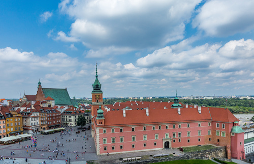 Warsaw capital city landscape Stock Photo 06