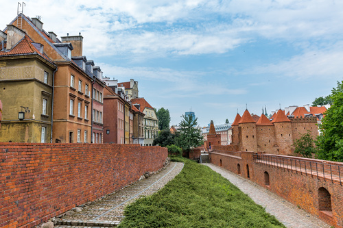 Warsaw capital city landscape Stock Photo 07