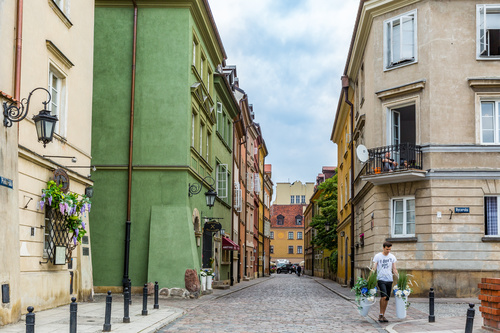 Warsaw capital city landscape Stock Photo 09