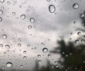 Water drops on the window Stock Photo 04