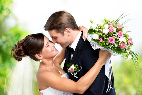 Wedding Couple Stock Photo 02