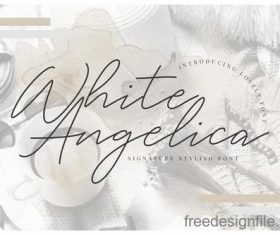 White Angelica Fonts