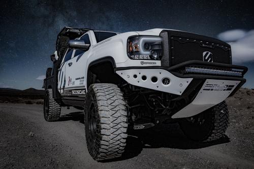White Dodge Pickup Truck Stock Photo 01