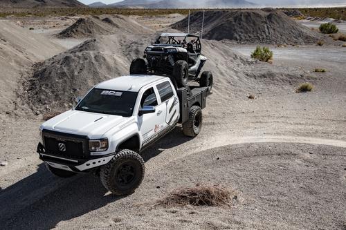 White Dodge Pickup Truck Stock Photo 03