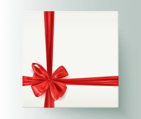 White gift boxs with red bows vector