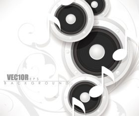 White music backgrounds vectors 02