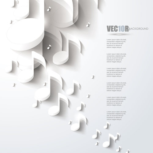 White music backgrounds vectors 04