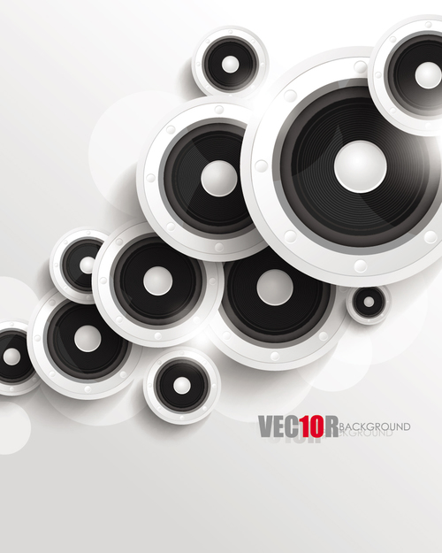 White music backgrounds vectors 05