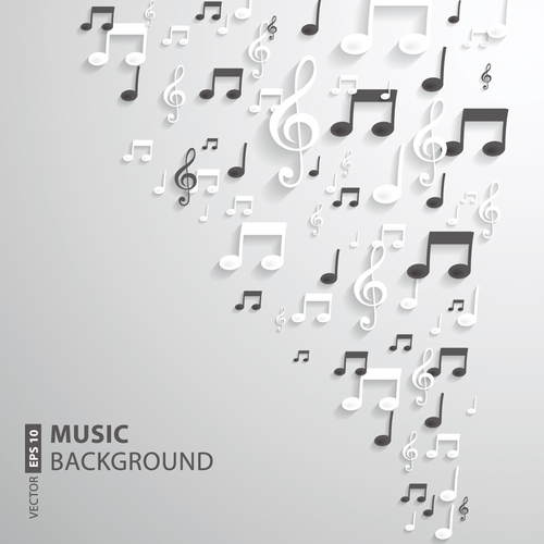 White music backgrounds vectors 06