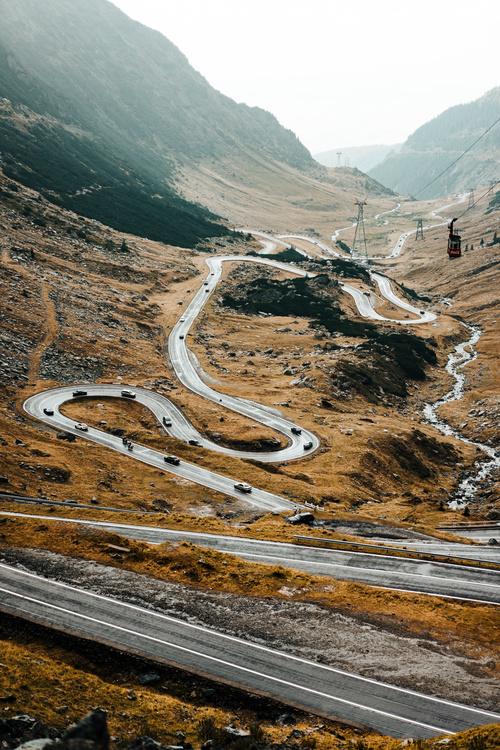 Winding mountain road Stock Photo