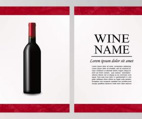 Wine flyer cover vector template