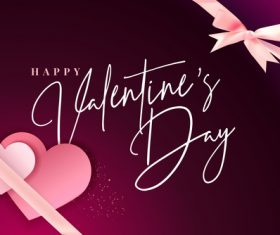 Wine red Valentines day card vector 02