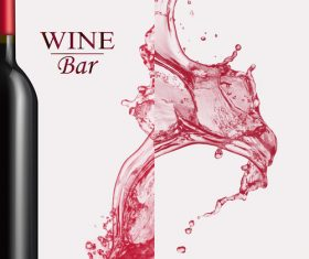 Wine splash background design vector 01
