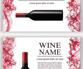 Wine splash background design vector 02
