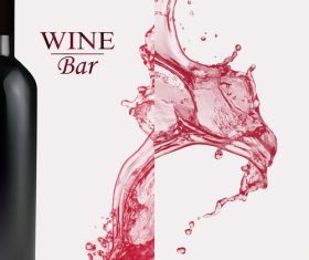 Wine splash background design vector 03