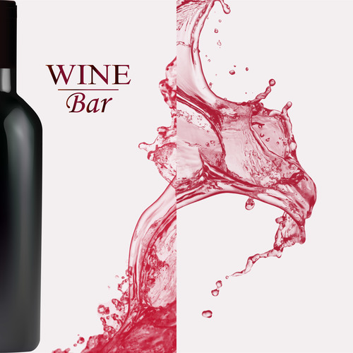 Wine splash background design vector 03