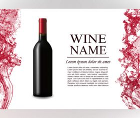 Wine splash background design vector 04