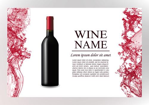 Wine splash background design vector 04