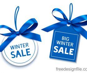 Winter sale tags design vector