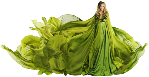 Young Woman in Fashion Shiny Dress Stock Photo 13
