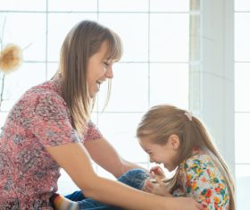 Young mother and daughter Stock Photo 03